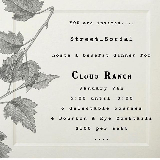 Today is the last day to RSVP for Street Social's benefit dinner. All proceeds will be used to purchase replacement tools and supplies for our studio. We hope to see you there! ❤️