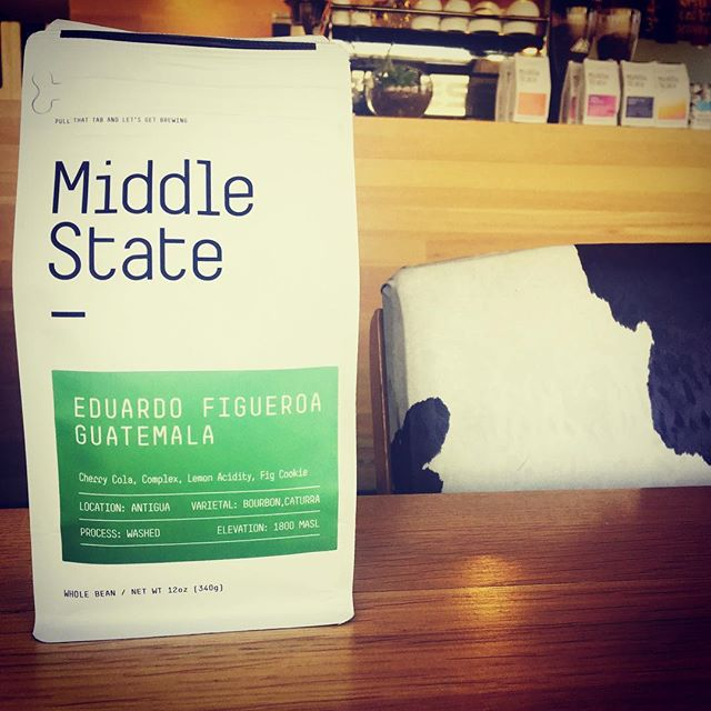 This new Guatemalan coffee from Eduardo Figueroa, roasted by @middlestatecoffee is sweet, complex, and balanced. Come try it on the drippy drip.  #coffeelove #denvercoffee #sessioncoffee