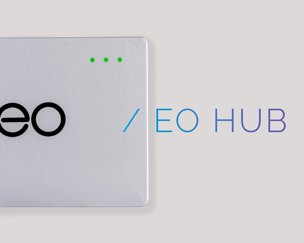 Plug eoHUB into your Genius charger to unlock EO's software