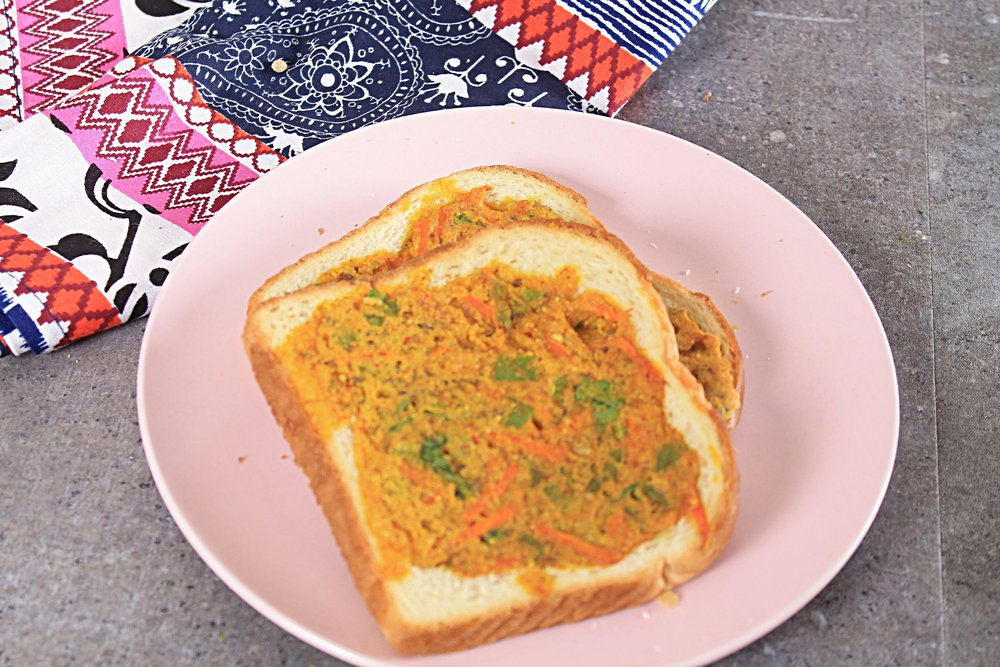 Eggless omelette toast - Savory