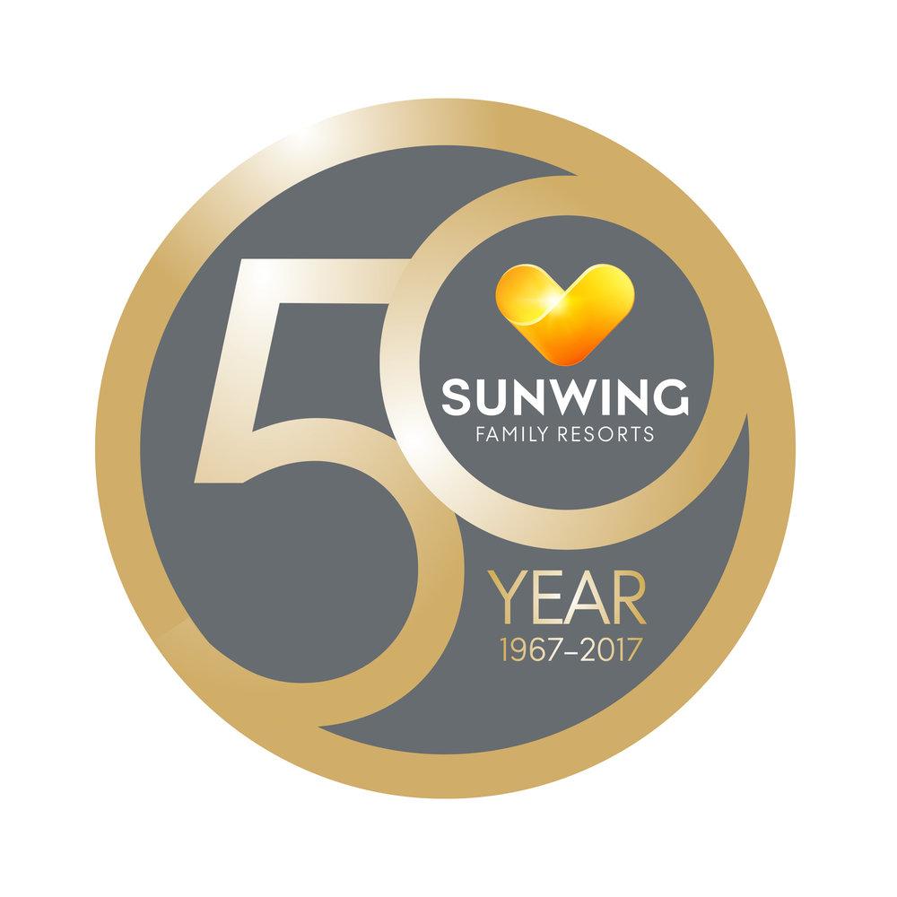 """Logo """"SUNWING 50 YEARS"""""""