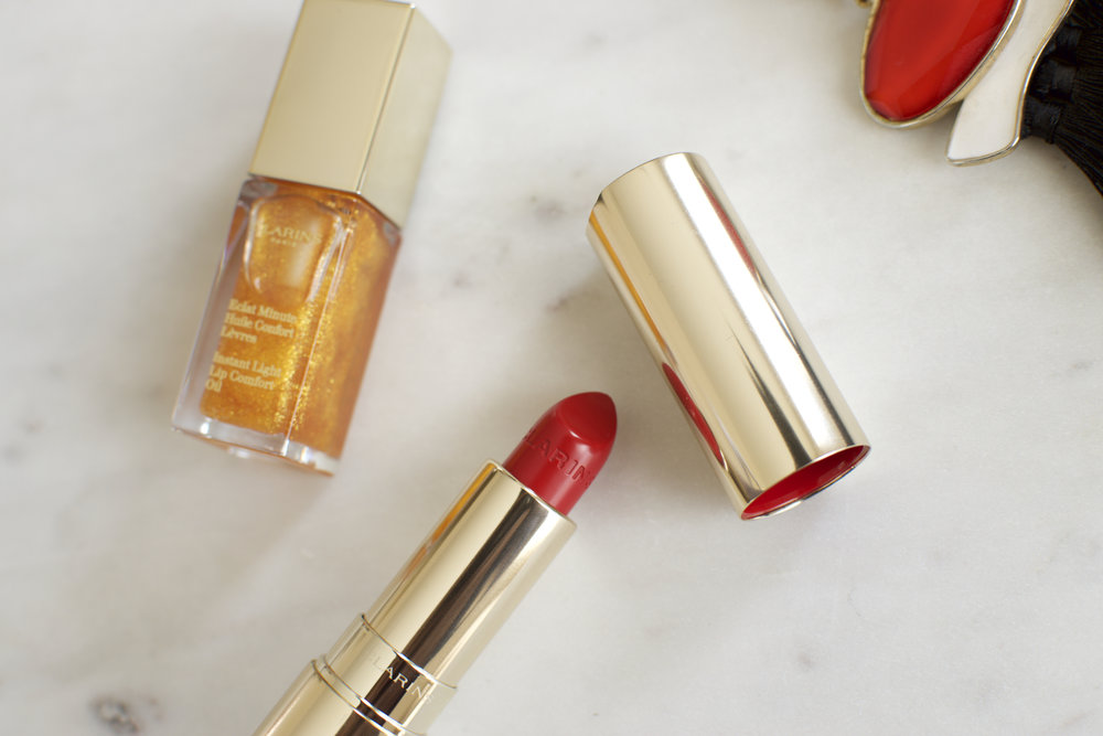 Clarins Lipstick Lipgloss Rouge Jolie Rouge Makeup