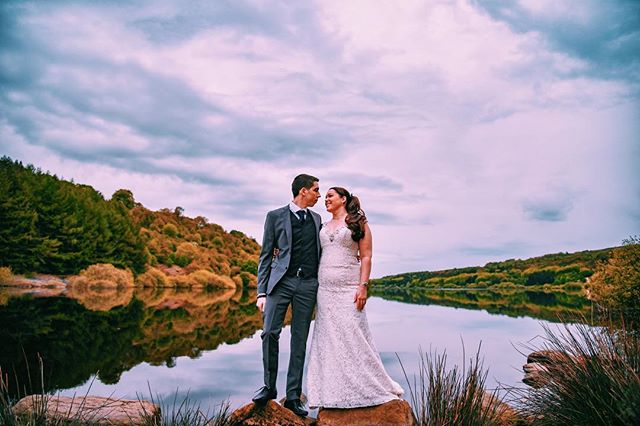 Beautiful reflections.  #wedding #weddingphotography #weddingphoto #weddingphotographer #clouds #cloudporn #dramaticskies #lookup #bride #brideandgroom #justmarried #postwedding #huddersfield #yorkshire #yorkshirephotography #saddleworthmoor #moorland #nikon #photo #photooftheday #landscape #d750 #reservoir #beautifulcouple #trees #reflections @yorkshirewater #scammonden