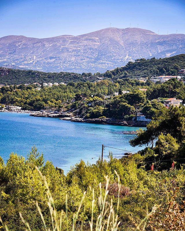 The beautiful coastline of Kefalonia.  #kefalonia #landscapephotography #nikond750 #coastline #beaches #sea #ocean #mountain #ionianislands #seascape #greece #summerholiday