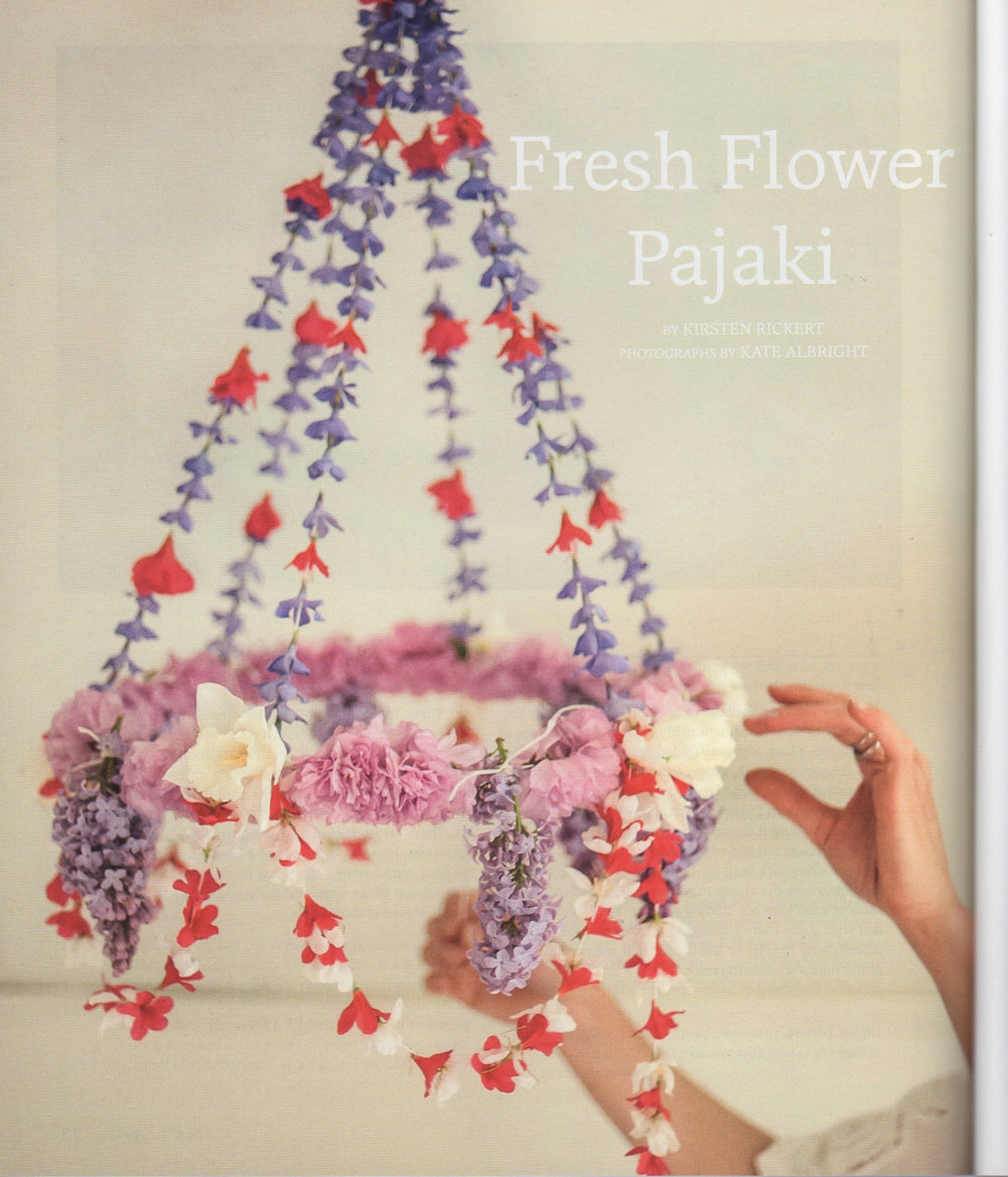 Taproot Magazine Fresh Flower Pajaki Tutorial by  Kirsten Rickert
