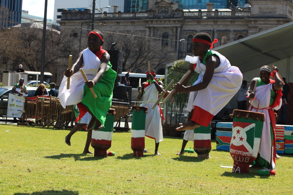 Burundi dancers performing in Adelaide, South Australia