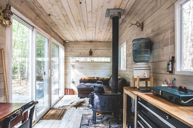 How do you turn a metal box into the cabin you've been dreaming about? Read more in this profile on #Dwell https://www.dwell.com/article/shipping-container-cabin-catskills-new-york-off-grid-rental-39af0bf2  #Contanium #container #ecoliving #offgrid #cabinporn #woods #cabin