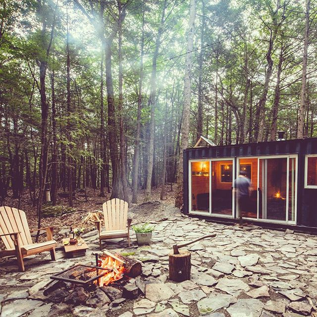 Outdoor cooking just tastes better. If it rains, finish eating inside the cabin. It never leaks.