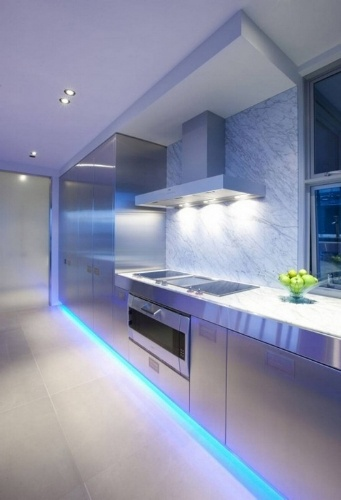 Creative, layered lighting is an excellent choice.