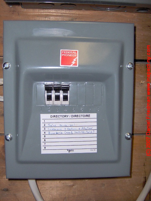 Federal Pacific Electrical Panel. See the red sticker? Call an electrician!