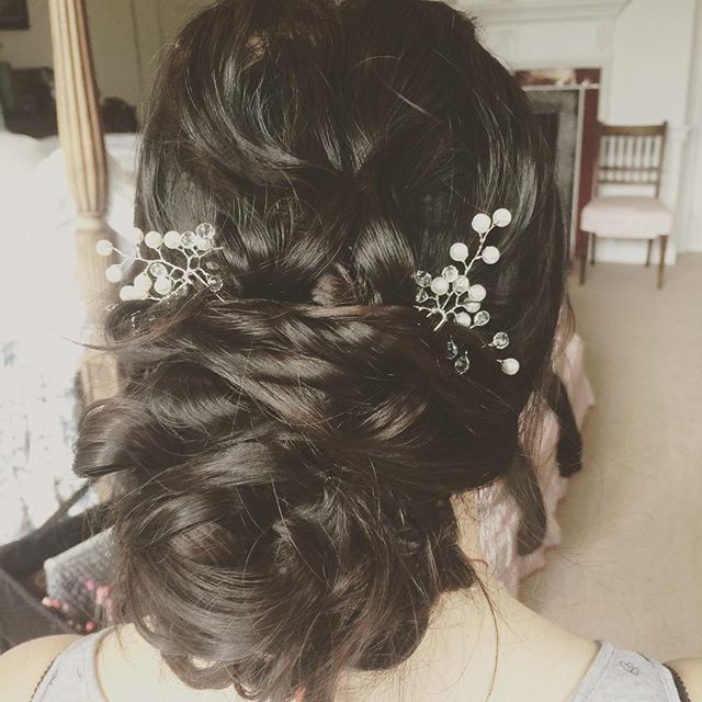 Ying's bridal hair. So much fun making her up the past few days.