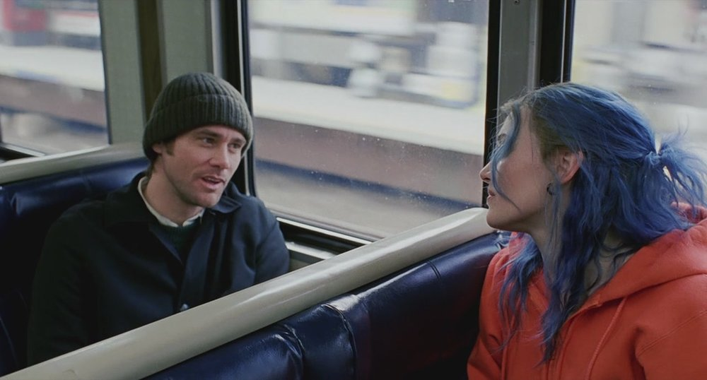 Jim Carey and Kate Winslett in Eternal Sunshine of the Spotless Mind