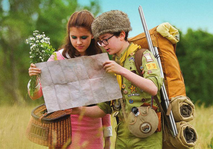 Kara Haywood and Jared Gilman in Moonrise Kingdom