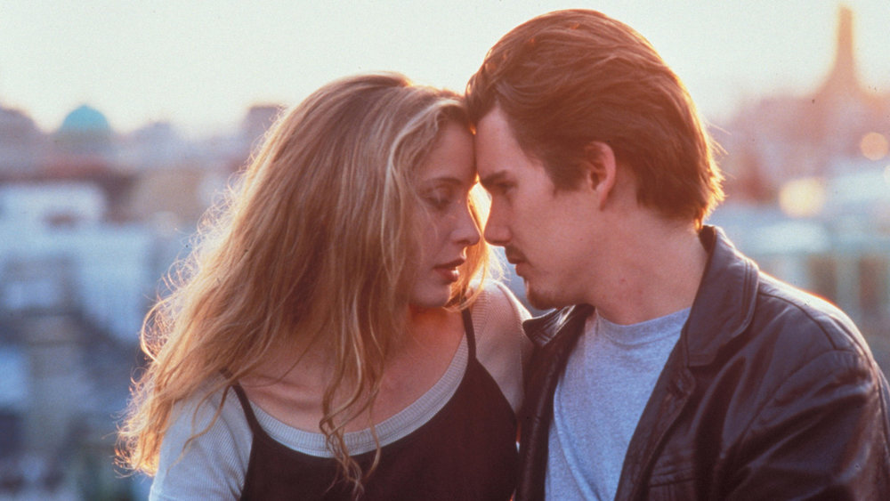 Ethan Hawke and Julie Delphy in Before Sunrise
