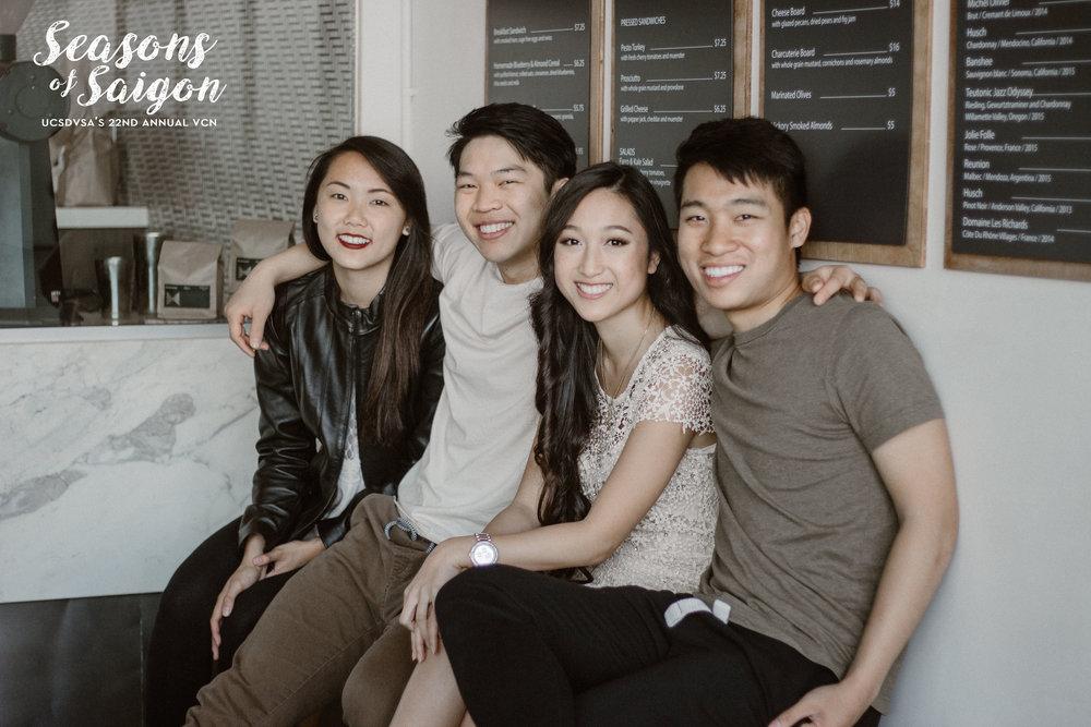 From left to right: Vicky Nguyen, Austin Huynh, Bella Nguyen, Kevin Tran
