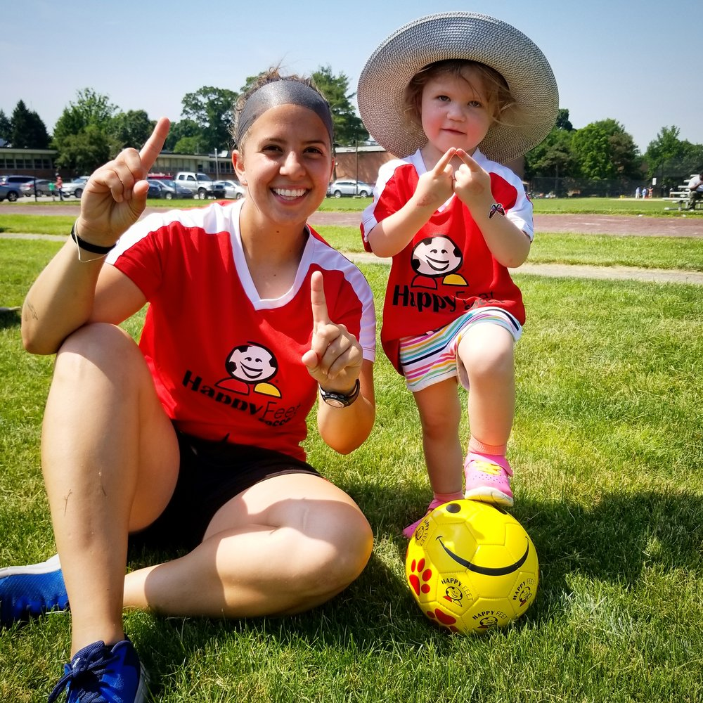 Lead Coach:Kay Manning - Phone Number: 610-905-8739Kay Manning grew up in Easton, PA. Kay has played soccer competitively since she was 8 years old. She has played on several traveling teams, Enco, Nazareth Soccer Club, Perugia, Pre- Olympic Soccer team. At Easton High School, she was a 4 year varsity soccer starter.She played at Arcadia University her freshman year as well. Kay transferred to Temple University her sophomore year to pursue a career in Art at Tyler Art Institute and continued to hone her soccer skills on the Women's intramural soccer leagues.During college, Kay had the opportunity to spend her Junior Year abroad. She was stationed in Rome and she visited eight different countries during her semester there. England, Ireland, Italy, France, Germany, Hungary, France, Spain all valued soccer and made her realize it's more than just a sport. Truly an experience of a lifetime.During her down time, Kay enjoys being outdoors or at the gym, riding her bike, traveling and drawing.Kay still enjoys to play soccer today.With Kay's extensive art background, she feels this allows her creative side to open up to the kids. She truly enjoys encouraging their imaginations to allow their soccer skills to develop to their fullest potential while having a blast. Kay believes one of the most rewarding aspects of HappyFeet is to witness the kids having fun while learning skills and gaining confidence that will stay with them a lifetime.
