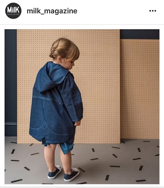 Thank you @milk_magazine for including me in your denim must haves! 👖💙👖💙👖💙👖 All my new products are available to purchase on my web shop  Link in bio 👆🏼 For the winter months I have chosen darker shades of denim, all products come in a medium and dark indigo wash. I spent a long time looking for the denim I used for these products, it is 8oz 100% cotton pre washed denim. Making it super soft and durable at the same time. I want my garments to last a life time as well as being comfortable for your little ones and I think the denim I found is perfect for this! #ottistudio #otti #denimlove #doubledenim #denimobsessed #madeinlondon #kidsfashion #kidstyle #kidswear