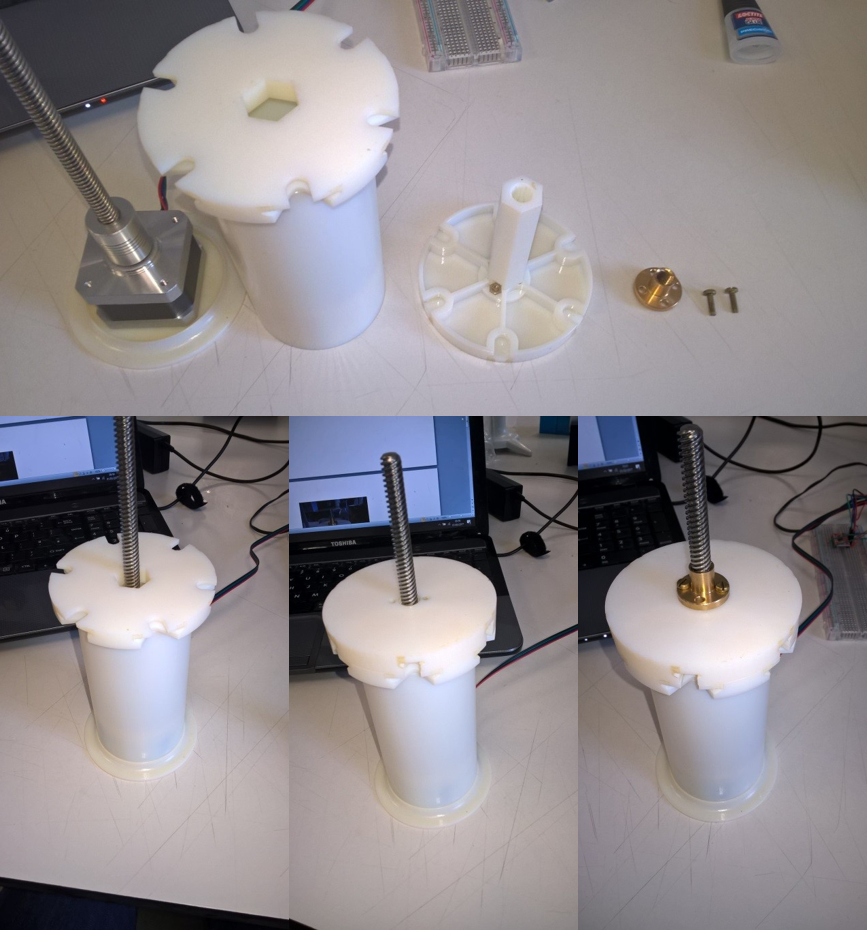 Figure 2:    3D Printed Syringe Pump Assembly