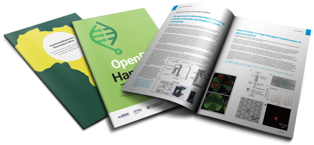 Download OpenPlant Handbook 2018   (15 MB, 170p) with details of OpenPlant Fund projects and Biomaker Challenge