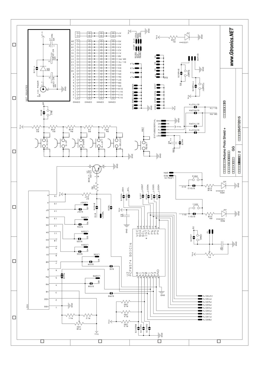 Download  circuit diagram for Protoshield Plus (PDF, 0.29MB)