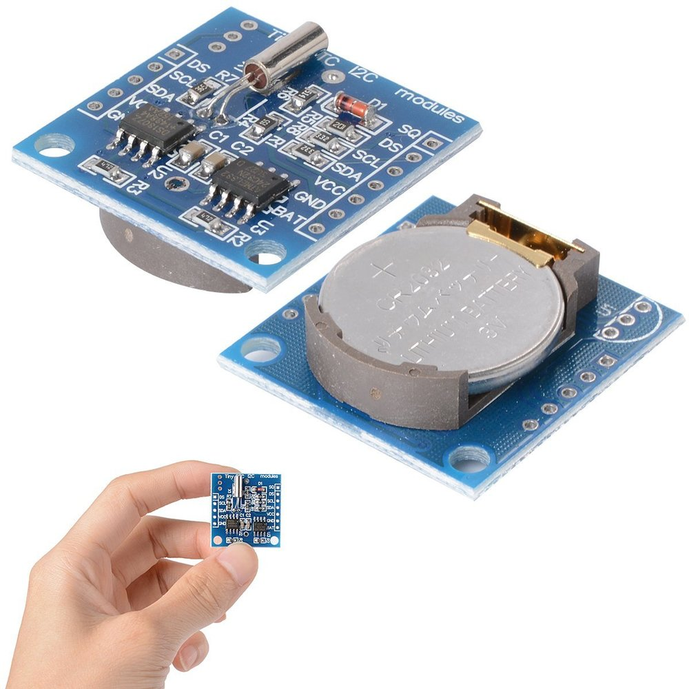 Real time clock module, with battery backup