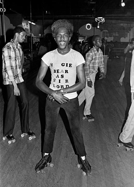 Empire Roller Disco, 1979, © Bill Bernstein from DISCO: The Bill Bernstein Photographs (Reel Art Press, 2015)