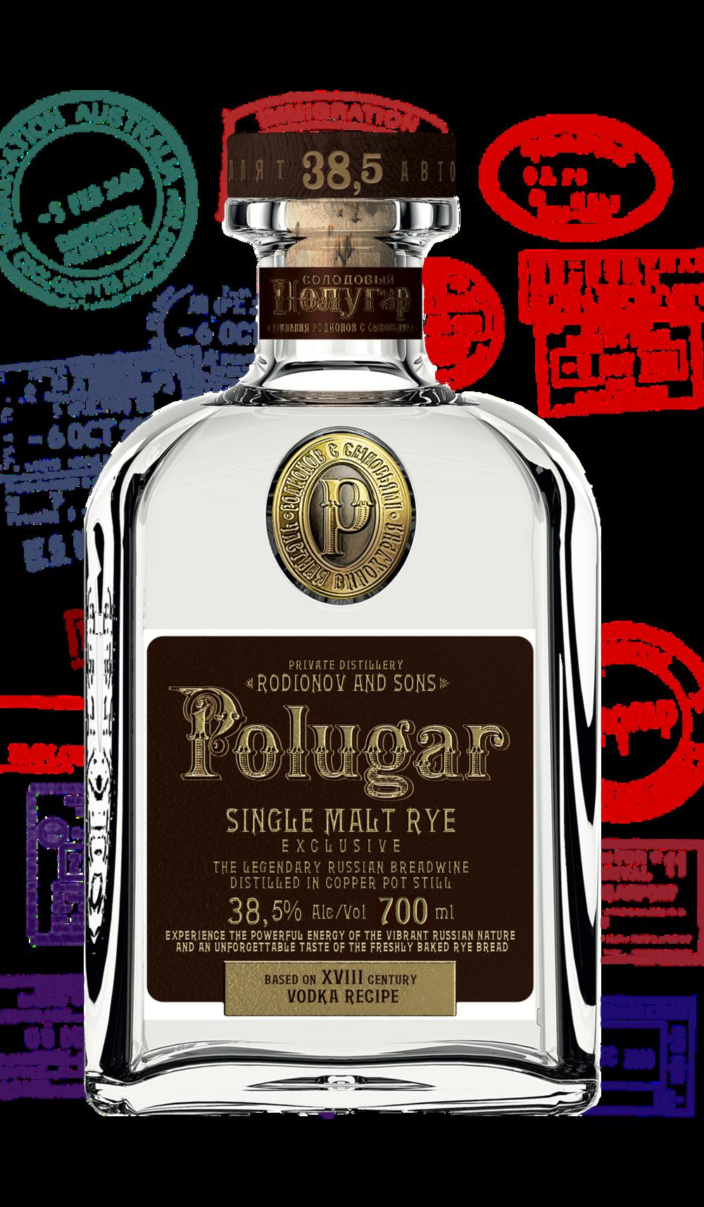 Polugar Single Malt Rye 38,5 %    Klicke auf das Bild für mehr Infos!   Via Cocktailian bestellen