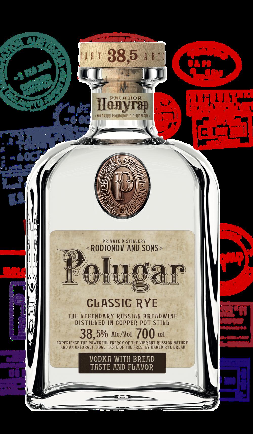Polugar Classic Rye 38,5 %    Klicke auf das Bild für mehr Infos  Via Cocktailian bestellen