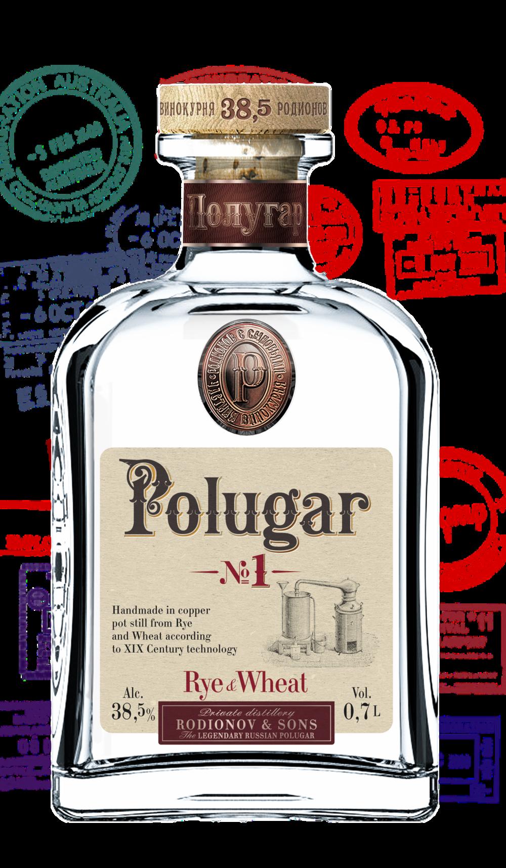 Polugar No.1 Rye &Wheat 38,5 %    Klicke auf das Bild für mehr Infos!