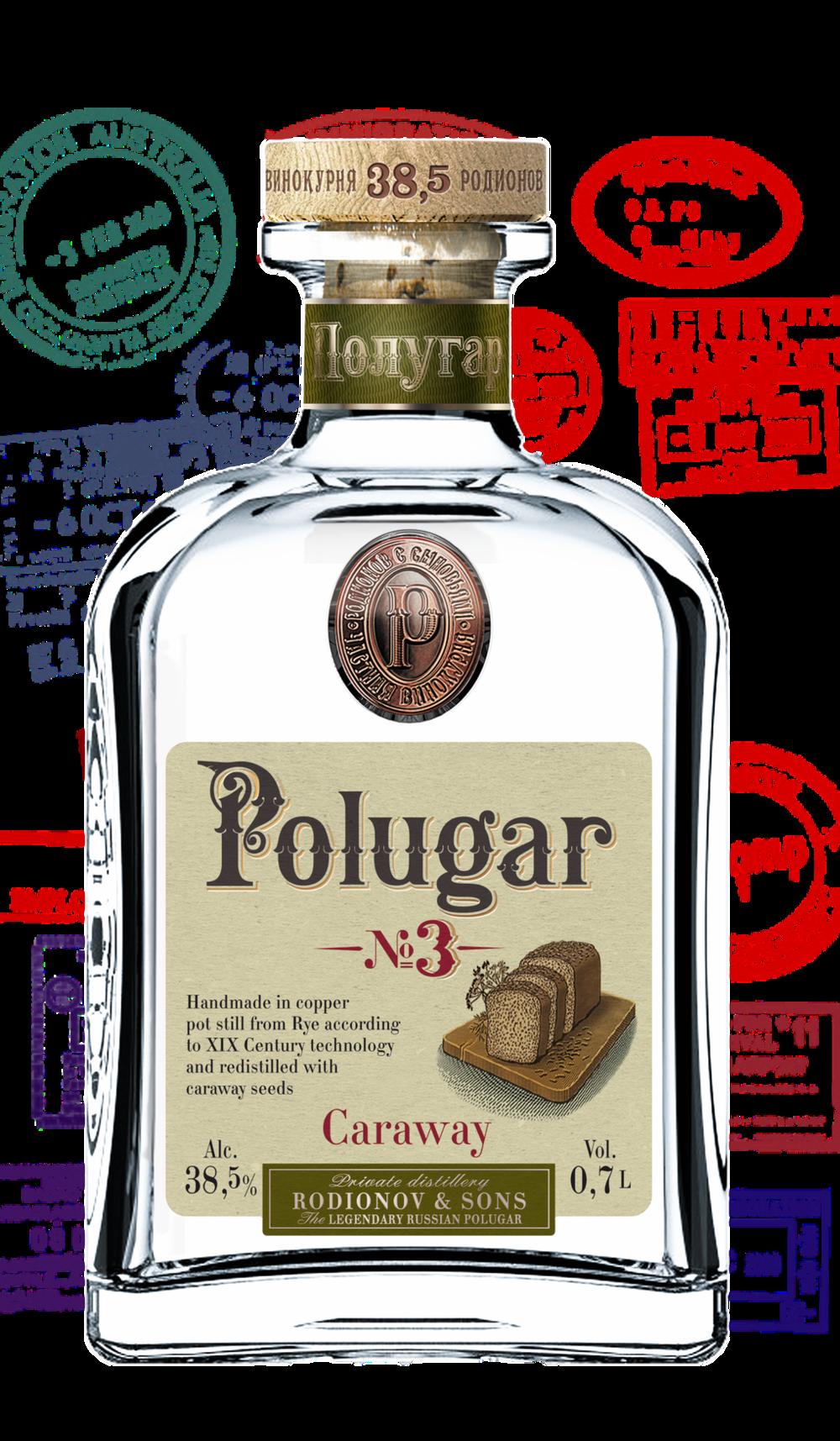 Polugar No.3 Caraway 38,5 %    Klicke auf das Bild für mehr Infos