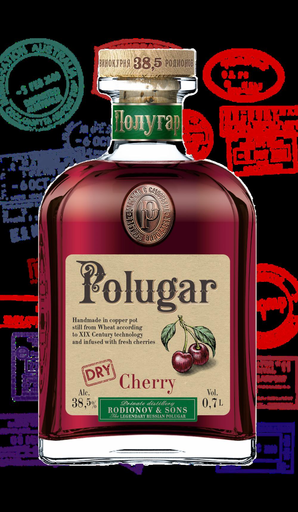 Polugar Dry Cherry 38,5 %    Klicke auf das Bild für mehr Infos!