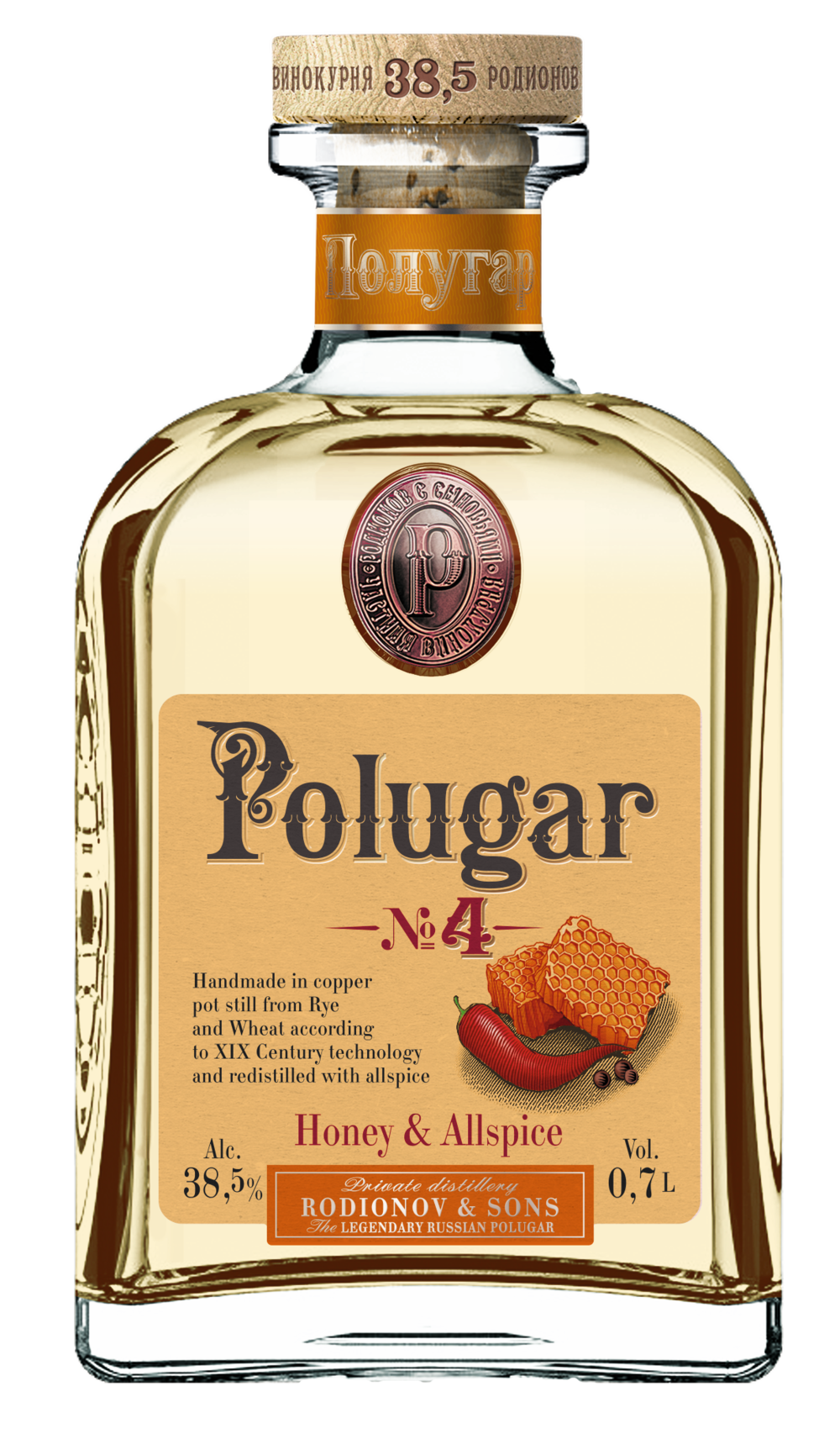 Polugar No.4 Honey & Allspice 38,5%
