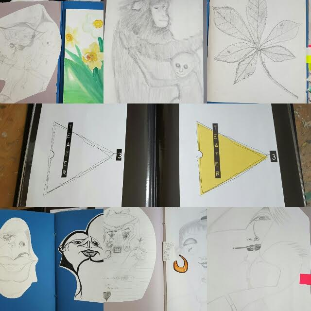 Hittade av en slump några av mina gamla teckningar från barndomen och några loggor jag gjort på en konstutbildning i ungdomen. Riktigt roligt att bläddra igenom! :-)