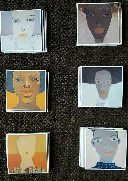 Magneter från Sticky9 med mina tavlor tryckta på. De kostar 25 SEK styck och fem för 100 SEK. Storleken är 5 x 5 cm