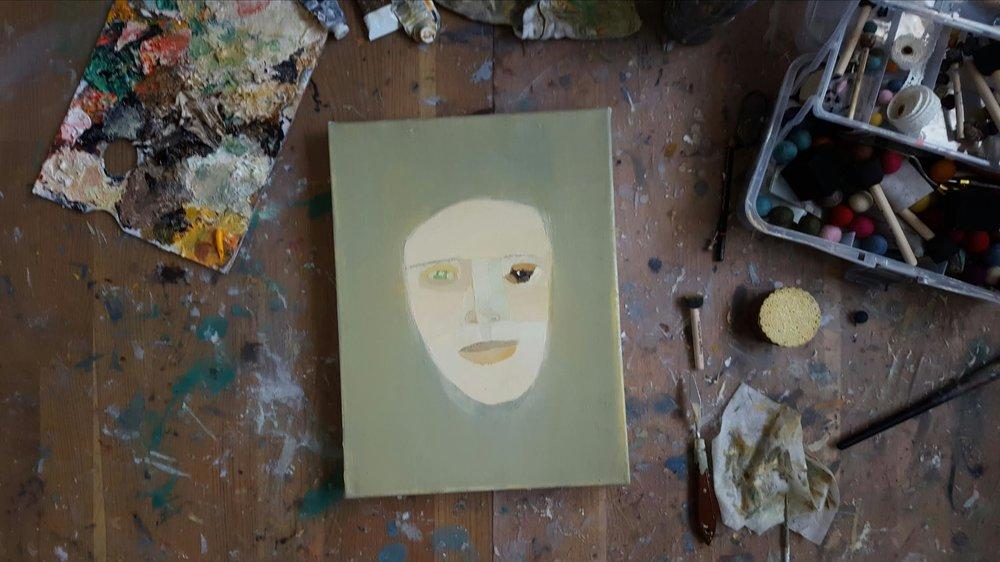 Ny målning på gång, 30 x 40 cm i olja.