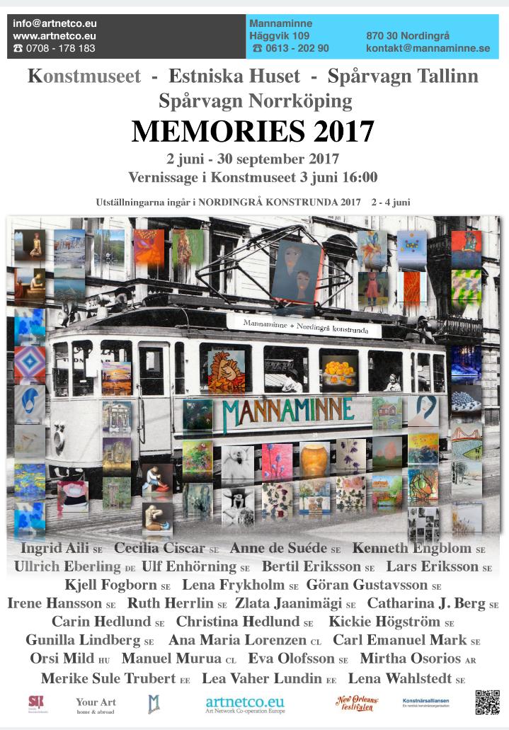 Memories 2017- Mannaminne, Höga kusten. Utställningen ingår i Nordingrå Konstrunda.