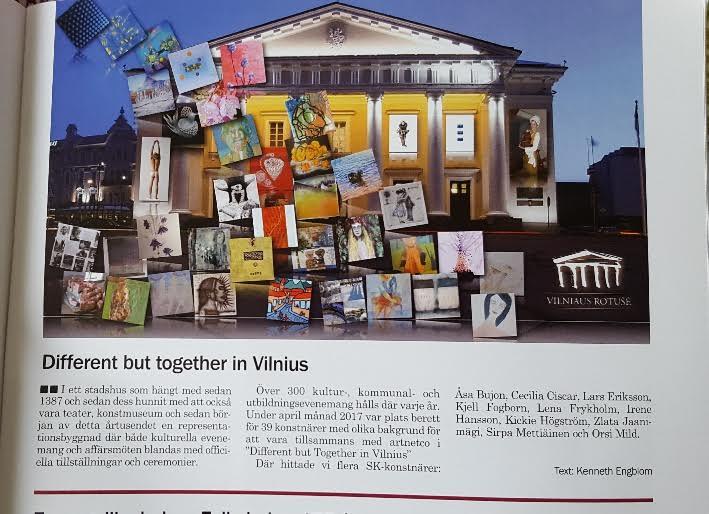 I senaste numret av  Bildkonstnären  (en tidskrift som Svenska konstnärsförbundet ger ut) nämns utställningen i Vilnius, där jag deltog.