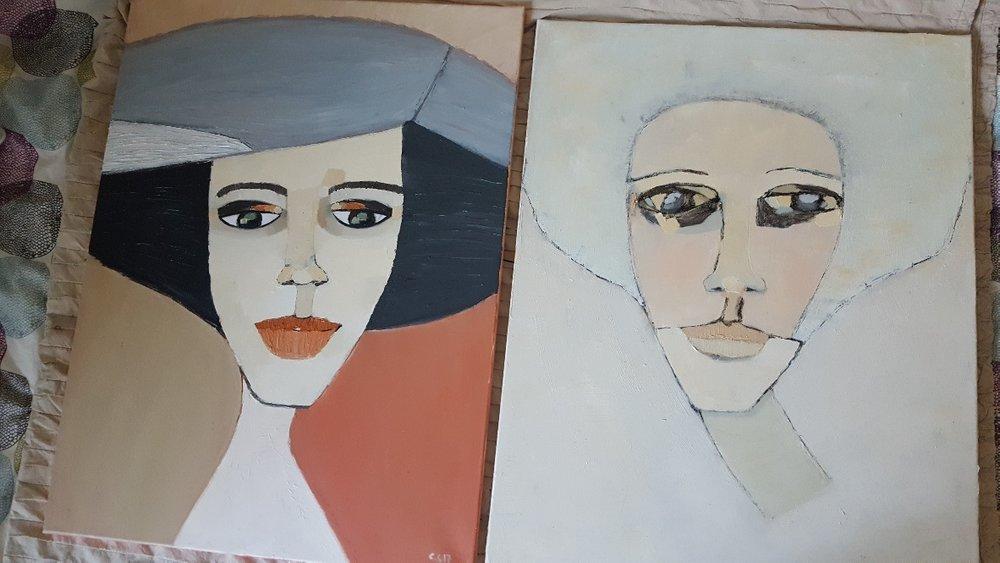 Alexia  och  Lily , 60 x 80 cm i olja