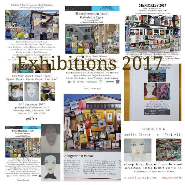 2017 många utställningar. Så tacksam och så roligt!