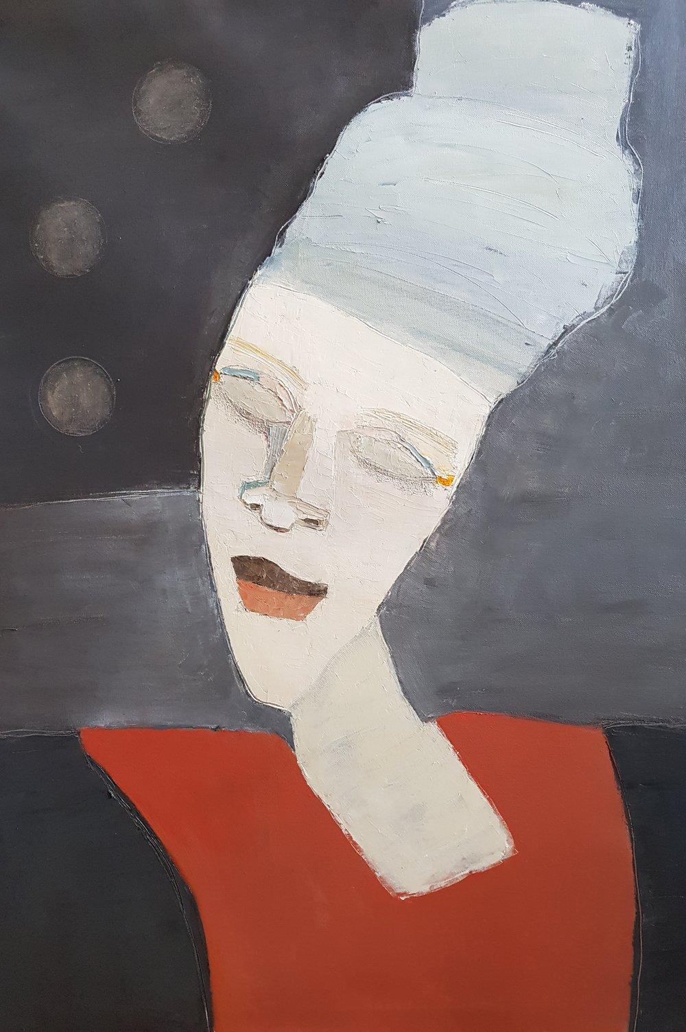 Senaste färdigställda tavlan, Luna, 60 x 80 cm i olja.