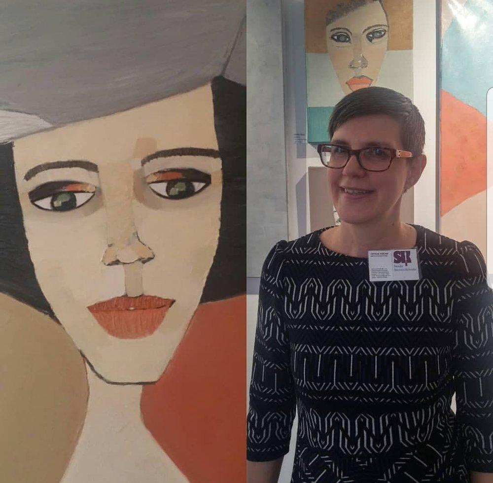 Jag på vernissagen. Collage och bild: Petra Persson