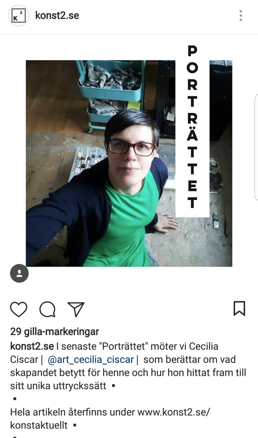 En artikel om mig och min konst på konst2.se!