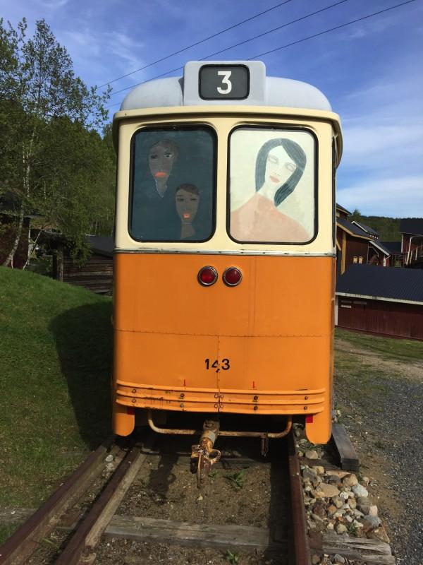 """""""Min spårvagn"""" """"Norrköping"""", som jag ska få fylla med mina tavlor!"""