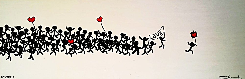 LOVE PARADE  acrylic on canvas, 120x40cm  SOLD