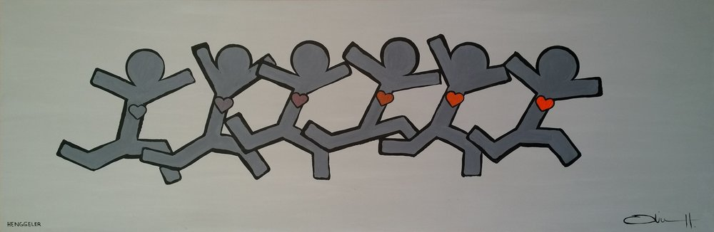 HEARTBEAT  acrylic on canvas, 70x30cm  SOLD