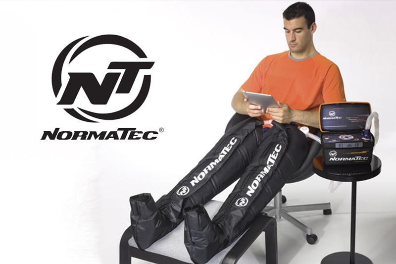 Normatec Recovery Boots at Peak Performance Massage Monterey