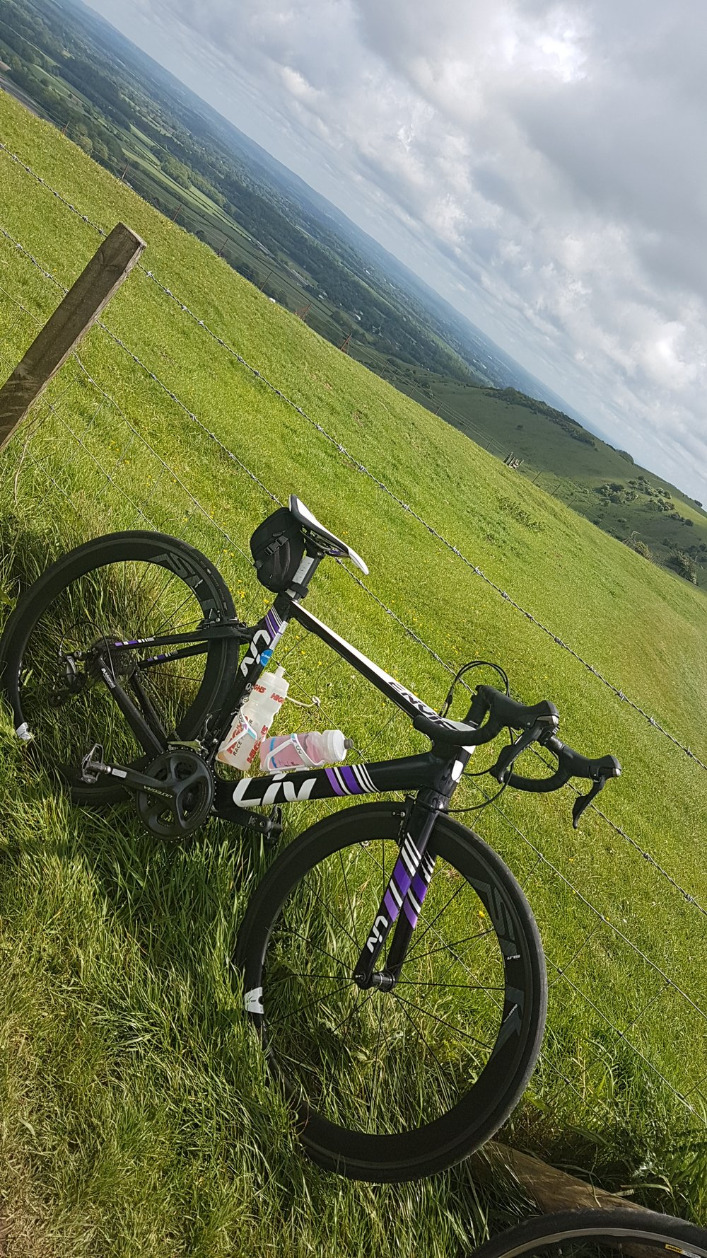 Ditchling Beacon, the top of the hill on cycle from London to Brighton and back.jpg