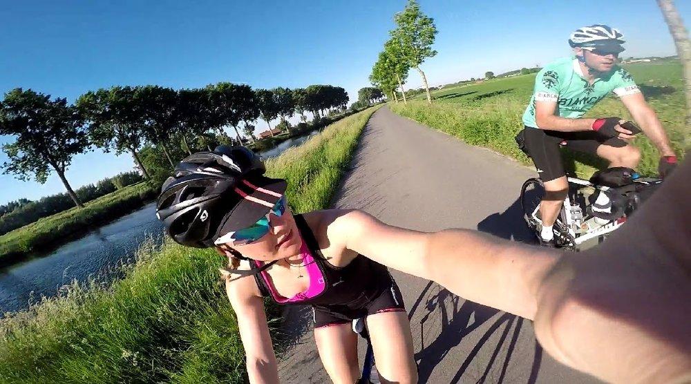 Cycling through Belgium
