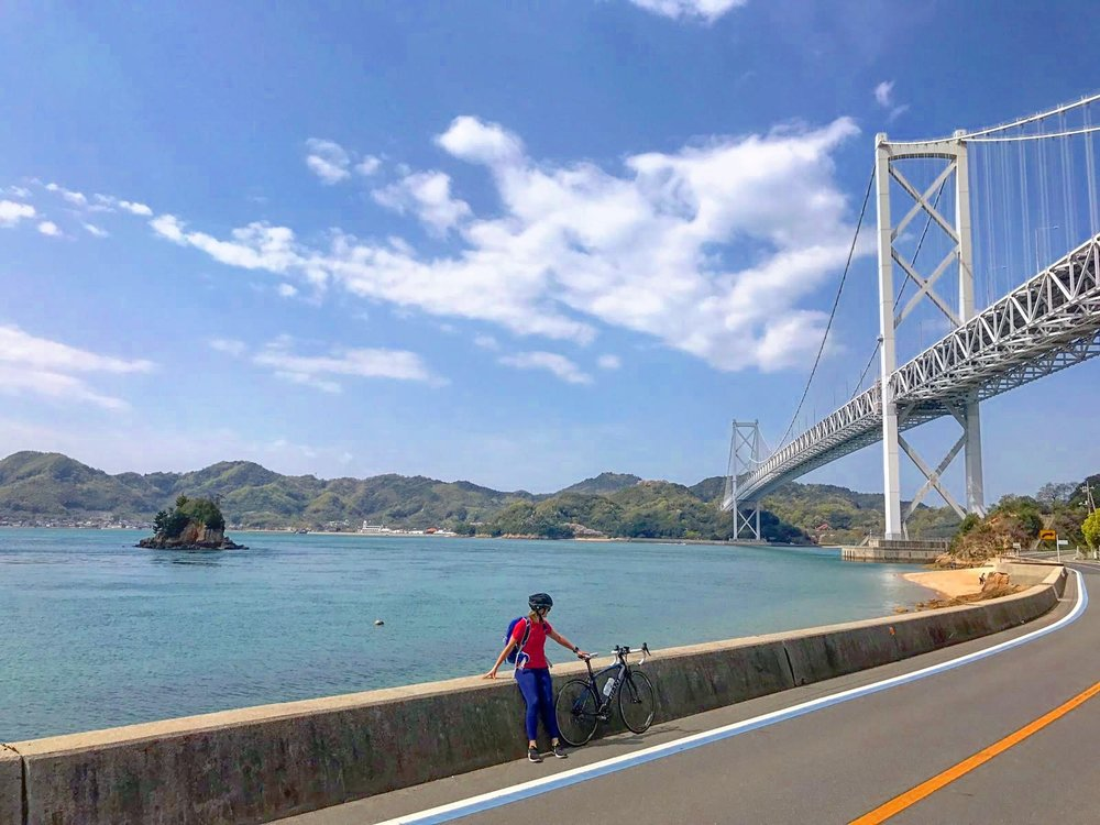 Along the Shimanami Kaido route in Japan.