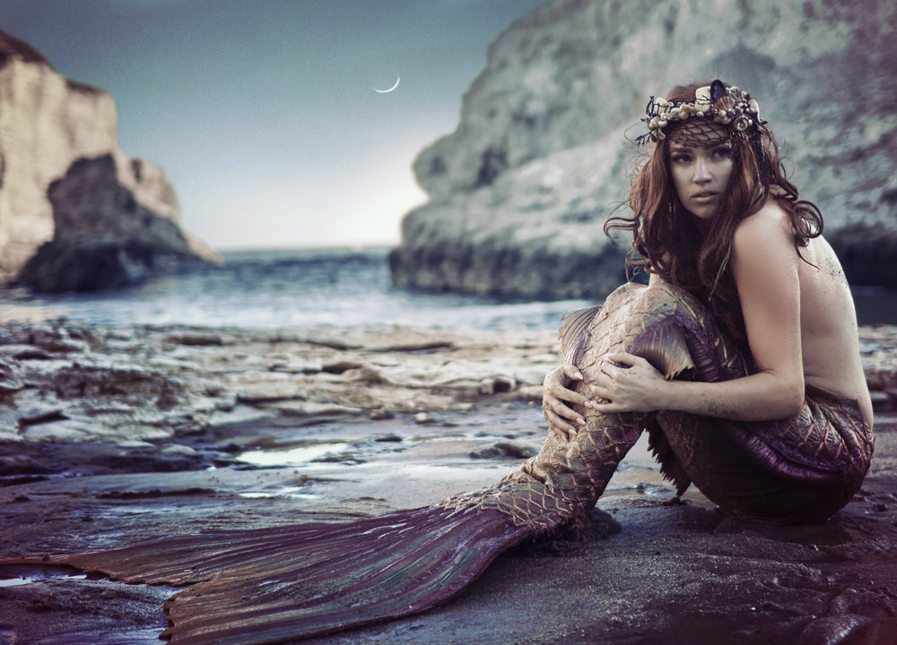 Photos & Edits: Chelsea Starling | Model: Laura Duvall | MUA: Chelsea Starling | Tail: Finfolk Productions | Location: Shark Fin Cove, CA | Shot: July, 2017